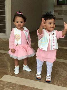 💥Brother sister dress comboo for rakhi 💥 Book ur orders now All sizes available For any qery or detail dm or whatsapp us at Twin Outfits, Baby Boy Outfits, Kids Outfits, Couple Outfits, Kids Indian Wear, Kids Ethnic Wear, Baby Boy Dress, Baby Girl Dresses, Baby Girl Fashion