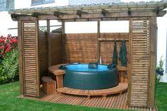 hot tub gazebo 11 garden hot tubs Most Clever DIY Hot Tub Gazebo Ideas For a Joyful Winter Hot Tub Pergola, Hot Tub Backyard, Hot Tub Garden, Jacuzzi Outdoor, Diy Hottub, Deck Gazebo, Outdoor Spa, Backyard Pergola, Pergola Kits