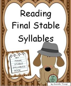This reading packet provides 23 word lists of the final stable syllable type words. Also, a master list of all the words is included as a quick reference. A final stable consonant is one of the six types of syllables in reading. Each list in this unit includes words using all the vowels with a final stable consonant such as -ble, -cle, -dle, ect.