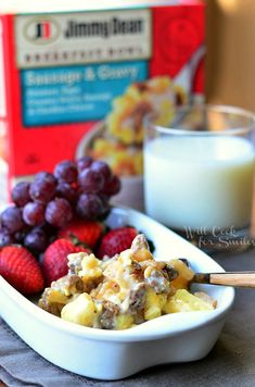 This post is part of a social shopper marketing insight campaign with Pollinate Media Group™ and Jimmy Dean, but all my opinions are my own. Breakfast Items, Breakfast Bowls, Breakfast Recipes, Snack Recipes, Snacks, Jimmy Dean, Oatmeal, Brunch, Yummy Food