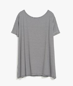 Stripe S/S Oversized Blouse