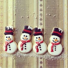 Snowmen cookies. Xmas time!