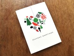 Printable Christmas Card  Heart of Christmas by empapers on Etsy, $5.50
