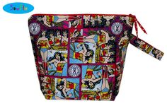 Wonder Woman Knitting Tote  Large Project Bag  Large by SewFlo