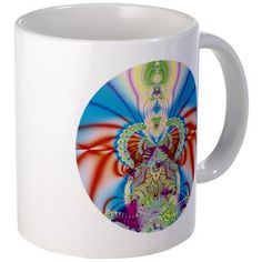 Happy Day Mug  Bright and funky original fractal design, abstract psychedelic art, happy day    €11.50