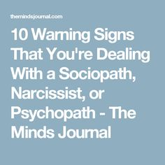 Signs you were hookup a sociopath