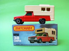 Matchbox Lesney Superfast No 38 Camper 1979 MIB Tan Windows  #Matchbox