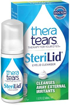 TheraTears Sterilid Eyelid Cleanser, Lid Scrub for Eyes and Eyelashes, Contains Tea Tree Oil, 48 mL, 1.62 Fl oz Foam Pump Best Makeup Remover, Eye Drops, Tea Tree Oil, Cool Eyes, Cleanser, Scrubs, Eyelashes, Conditioner, Pumps