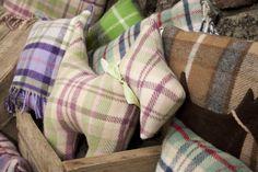 pastel plaid cushions