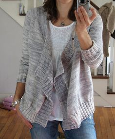 "Ravelry: zimblek's ""Effortless"" Madtosh Cardigan $5.95"