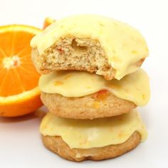 orange marmalade cookies with orange icing