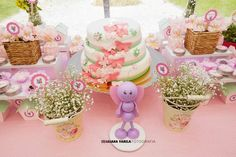 Dessert table at a butterfly birthday party! See more party planning ideas at CatchMyParty.com!
