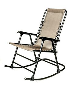 Camco 51851 Tan Folding Rocking Chair    Check This Awesome Product By  Going To The
