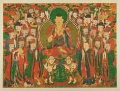 ksitigarbha | Bodhisvitta Ksitigarbha (Jizo) and the Ten Kings of Hell, Artist Unknown (Korean)