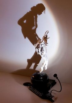 Michael Jackson shadow art