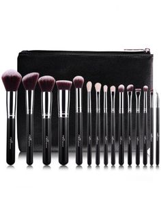 COLORMIX 15 pcs Makeup Brushes Kit and Makeup Sponge