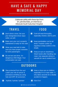 Infographic Safety Tips For Memorial Day