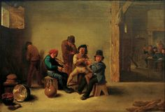 Afbeelding David Teniers - D.Teniers d.J., Zechende u. rauchende...