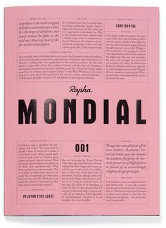 Fab New Magazine Alert: Rapha's Mondial is a Must for All You Bike-loving Designers | AIGA Eye on Design