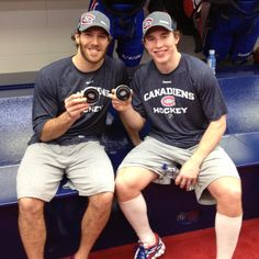 Brandon Prust & Brendan Gallagher I can't believe i actually met both of these amazing hockey players! Hockey Baby, Ice Hockey, Montreal Canadiens, Hockey Pictures, Hockey World, Pittsburgh Penguins, Pittsburgh Hockey, Hockey Games, Hockey Players