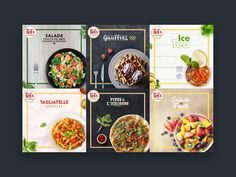 Restaurant social media pack by Rahal Nejraoui on Dribbble Food Graphic Design, Food Menu Design, Food Packaging Design, Social Media Poster, Social Media Branding, Social Media Design, Marketing Strategies, Marketing Plan, Business Marketing