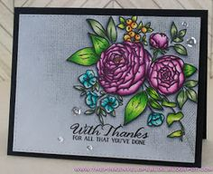Hey folks!   I'm back today to share a suer easy and super fast one layered card with you all!   It's no secret that I love to mask and buil...