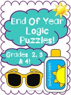 End of the Year & Summer Logic Puzzles for Critical Thinking