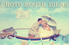 Cute ideas for photo booths at a wedding or big event