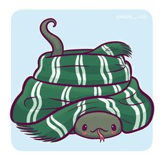 Nagini in a Slytherin scarf! I'm a big fan of drawing cute danger noodles :3 This is the last chance to enter my 20k giveaway! And to get a 15% off discount code THANKYOU20 on my etsy the winners will be randomly chosen tomorrow • #nagini #snek #snake #slytherin #slytherinpride #dangernoodle #cute #kawaii #chibi #instaart #instadaily #instaartist #illustration #illustrationoftheday #digitalart #digitalpainting #doodle #drawing #art #voldemort #deatheater #horcrux