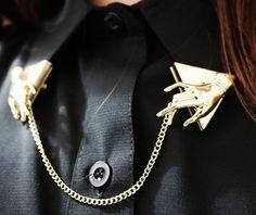 gold chain.