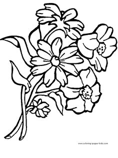 flower Page Printable Coloring Sheets   Coloring Pages Flower ...
