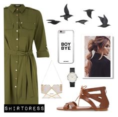 """""""~ Shirtdress ~"""" by cnunz ❤ liked on Polyvore featuring Jayson Home, Lipsy, River Island and shirtdress"""