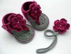 Yazlık Örgü Bebek Sandalet Modelleri | Hobilendik.net
