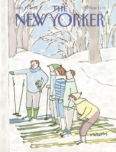 The New Yorker - Monday, January 11, 1988 - Issue # 3282 - Vol. 63 - N° 47 - Cover  by Devera Ehrenberg