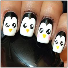 penguins by  imichelley  #nail #nails #nailart