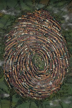 The Human Touch. Fingerprint urbanism by Jacob Eisinger. Amazing Architecture, Architecture Design, Birds Eye View, Aerial Photography, Photography Ideas, Pinterest Photography, Capture Photography, Photography Lighting, London Photography
