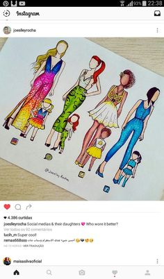 If social medias were mothers and their doughters Amazing Drawings, Beautiful Drawings, Cute Drawings, Amazing Art, App Drawings, Art Sketches, Bild Girls, Social Media Art, Drawing Clothes