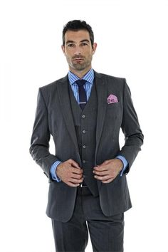 3 piece suits for men by Montagio Custom Tailoring