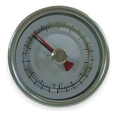 Bimetal Thermom, 3 In Dial, -40 to 160F by Dwyer Instruments. $107.82. Min/Max. Min/Max Dial Thermometer, Bimetal, Dial Size 3 In., Connection Size 1/2 In. NPT, Connection Location Back, Stem Length 6 In., Temp. Range (F) -40 Degrees to 160 Degrees , Temp. Range (C) -40 Degrees to 70 Degrees , Accuracy +/-1 Percent, Stem Dia. 1/2 In.Case Hermetically Sealed, Case Material Stainless Steel, Stem Material Stainless Steel, Window Material GlassManufacturers Warrant...