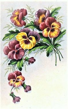 ru / Photo # 53 - 18 - Deutsch Yüksel Quality Professional Services Diese Fotoalben, die Sie online be. Thread Painting, Tole Painting, Fabric Painting, Art Floral, Floral Prints, Hand Embroidery Designs, Embroidery Patterns, Fleur Pansy, Watercolor Flowers