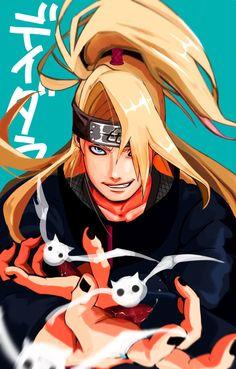 Sasuke Uchiha, Anime Naruto, Anime Guys, Manga Anime, Akatsuki Clan, Deidara Akatsuki, Deidara Wallpaper, Ao No Exorcist, Naruto Characters