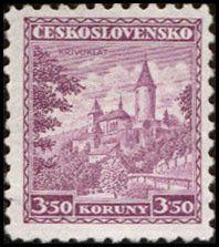 Sello: Křivoklát castle (Checoslovaquia) (Castles, landscapes and cities) Mi:CS 311,Sn:CS 184,Yt:CS 274,AFA:CS 175,POF:CS 265
