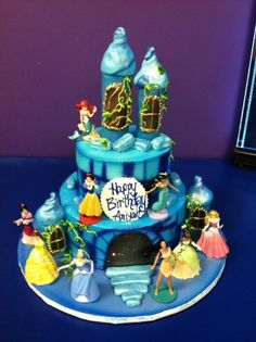 disney princess birthday cake