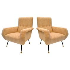 Pair of Lounge Chairs by Gio Ponti c1950's
