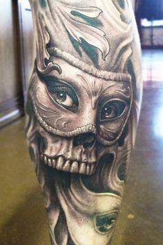 Skull Tattoo by Josh Duffy Tattoo | Tattoo No. 11338