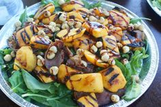 Blueberry Girl : Grilled Peach and Prosciutto Salad