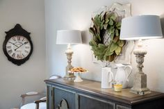 A true signature, Joanna loves to incorporate a magnolia wreath into every home — after all, the family company is called Magnolia Homes.