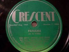 "First and Big Auction 78rpm in 2017 Come in & find out :-)  !!! Startprice only 1,99 Euro !!! Worldwide shipping !!!  KID ORY'S CREOLE JAZZ BAND ""Under The Bamboo Tree / Panama"" Cresent 78rpm 10"""