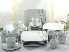 Porzellan Tafelservice Kaffeeservice Essservice 42tlg TK-959 Spring Wave  NEU Teller Set, Ebay, House Design, Plates, Spring, Tableware, Kitchen, Home, Dining Ware