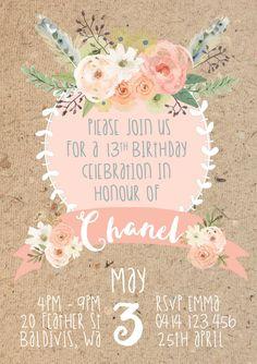 BOHO THEMED 13TH BIRTHDAY PARTY